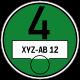 Feinstaubplakette grün