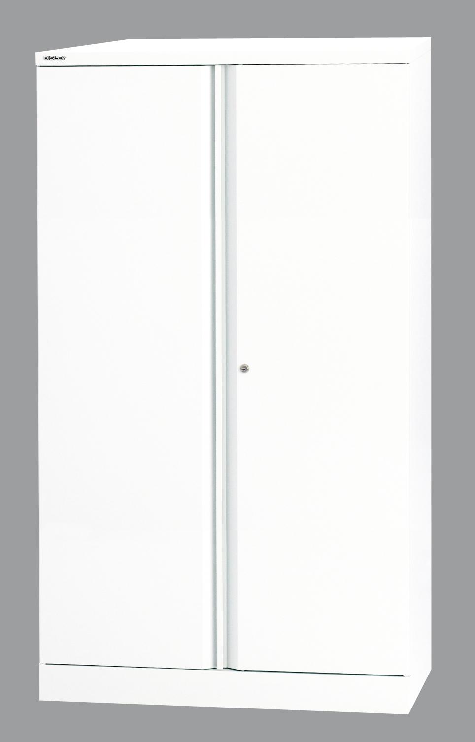 Büroschrank weiß abschließbar  robuster Aktenschrank aus Stahl weiß lackiert mit 2 abschließbaren ...