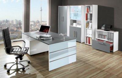 Moderne büromöbel weiss  moderne Büroschränke und Wangenschreibtische günstig