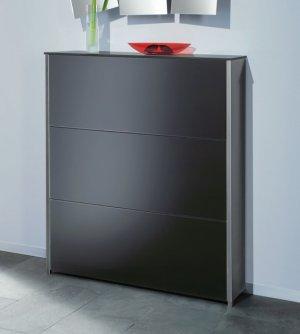 sehr hochwertiger design schuhschrank aus edelstahl und glas. Black Bedroom Furniture Sets. Home Design Ideas