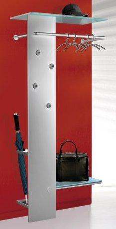 Metall wandgarderobe mit beweglichen magnet kleiderhaken for Moderne wandgarderobe