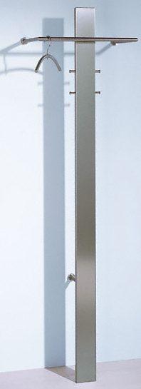 Elegante wandgarderobe mit schirmst nder aus geschliffenem for Garderobe rohre