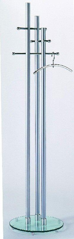 edelstahl standgarderobe mit 3 garderobenstangen aus hochwertigem edelstahl und standfu aus. Black Bedroom Furniture Sets. Home Design Ideas