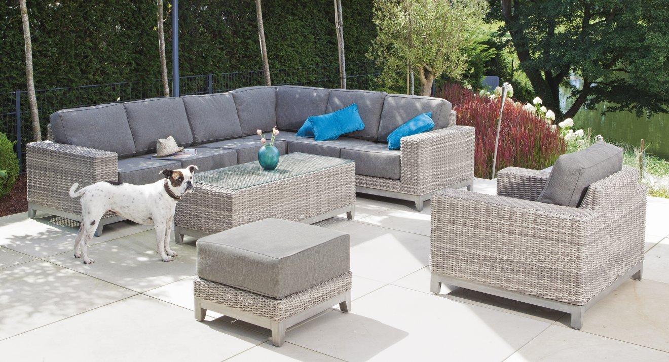 witterungsbest ndige outdoor sitzgruppe bequeme outdoor eckcouch. Black Bedroom Furniture Sets. Home Design Ideas