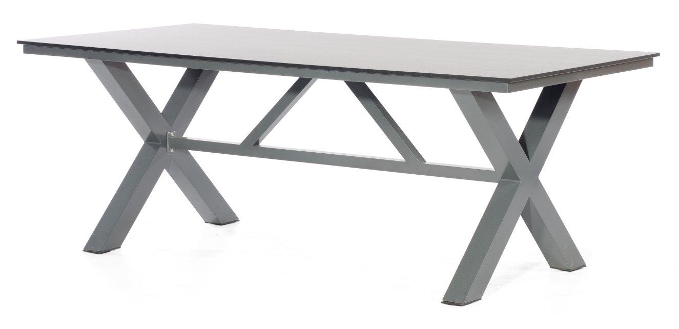 Wetterfester Gartentisch Hpl Tischplatte Vintage Optik 200x100 Cm