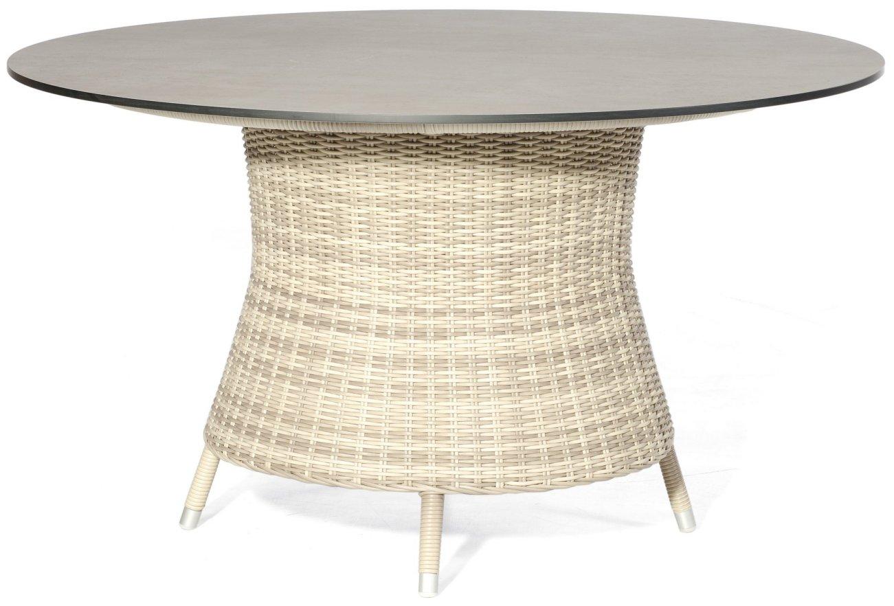 Eleganter Antiklook Gartentisch Runde Tischplatte Durchmesser 134 Cm