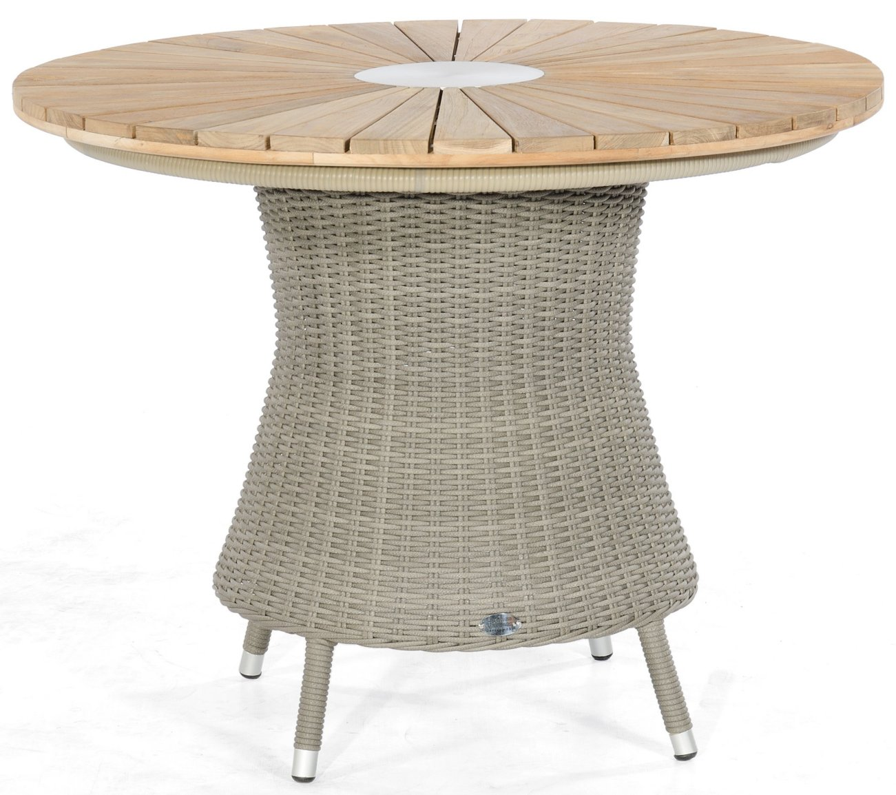 Hochwertiger Gartentisch Runde Old Teak Tischplatte Mit Robustem