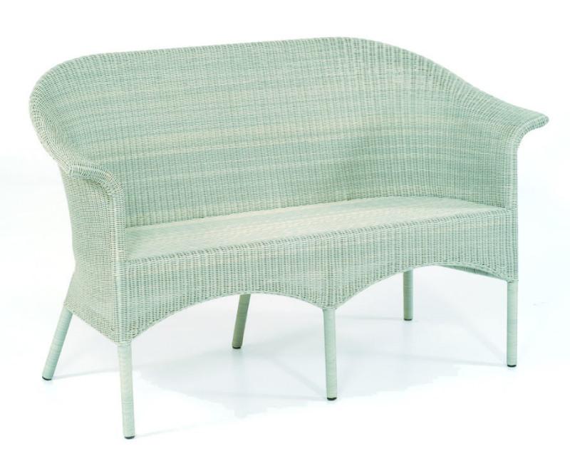 abbildung wei e 2 sitzer geflecht gartenbank cayman white washed. Black Bedroom Furniture Sets. Home Design Ideas