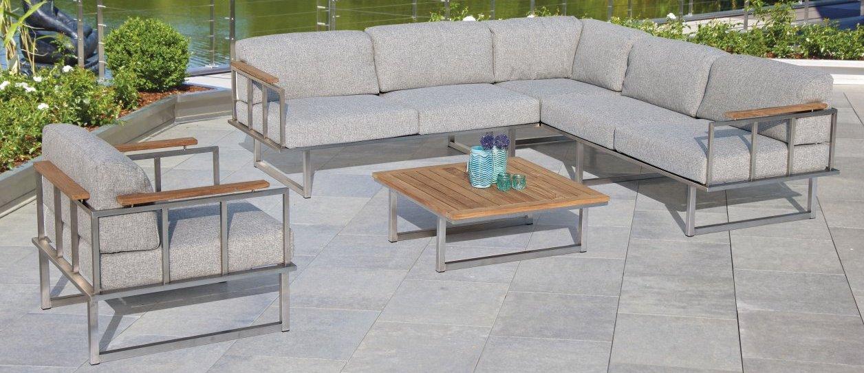 au enbereich sitzgruppe outdoor couchtisch garten ecksofa mit polsterkissen strapazierf hig. Black Bedroom Furniture Sets. Home Design Ideas