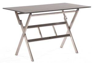 Witterungsbestandiger Edelstahl Gartenklapptisch Robuste Tischplatte
