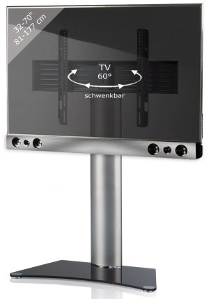 eleganter lcd fernseher standfu mit drehbarer tv und lautsprecherhalterung. Black Bedroom Furniture Sets. Home Design Ideas