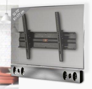 Preiswerte wandhalterung f r flachbildfernseher und soundbar mit neigbarer tv halterung - Wandhalterung flachbildfernseher ...