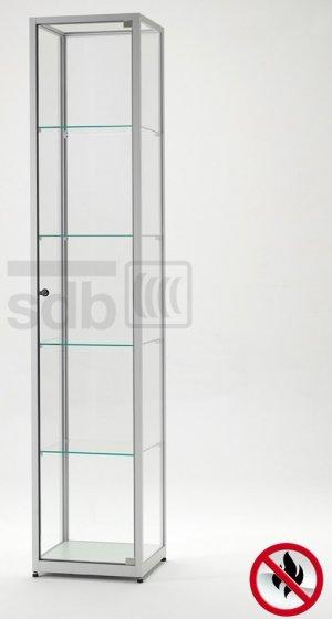 abschlie bare und feuerbest ndige glasvitrine aus esg sicherheitsglas als brandschutz. Black Bedroom Furniture Sets. Home Design Ideas