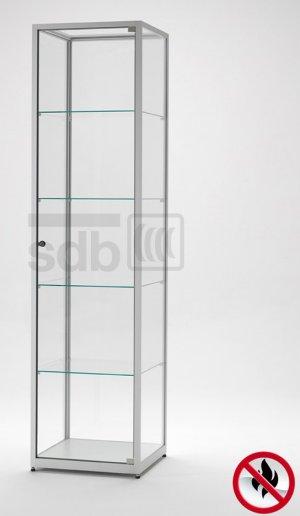 robuste und feuerbest ndige brandschutz glasvitrine abschlie bar mit stufenlos verstellbaren. Black Bedroom Furniture Sets. Home Design Ideas