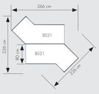 erweiterbare und kombinierbare b roschreibtische mit kratzfester melaminharz beschichtung. Black Bedroom Furniture Sets. Home Design Ideas