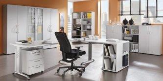 moderne b roausstattung mit den robusten b rom beln der office 400er serie erweiterbarer. Black Bedroom Furniture Sets. Home Design Ideas