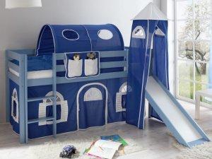 kinder hochbett kasper mit leiter rutsche und turm robustes bettgestell aus hochwertiger. Black Bedroom Furniture Sets. Home Design Ideas