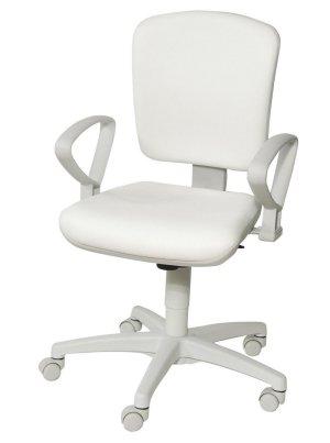Schreibtischstuhl weiß  Preiswerter und besonders stabiler, weißer Arzthocker ...