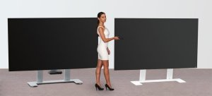 standfester fernseher standfu aus robustem stahl geeignet f r flachbildfernsehger te von 40 bis. Black Bedroom Furniture Sets. Home Design Ideas