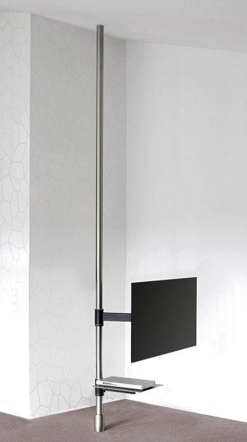 besonders stabile edelstahlstange vom boden bis zur decke. Black Bedroom Furniture Sets. Home Design Ideas