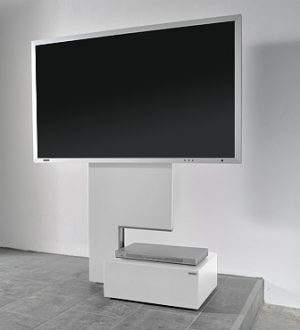 sehr sch ner rollbarer plasmafernseher lcd fernseher. Black Bedroom Furniture Sets. Home Design Ideas