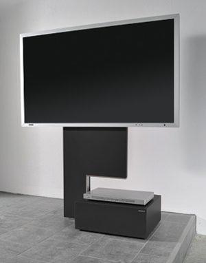 sehr sch ner rollbarer plasmafernseher lcd fernseher. Black Bedroom Furniture Sets. Home Design Ideas